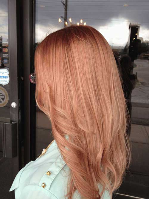 Strawberry Rose Hair Color Ideas