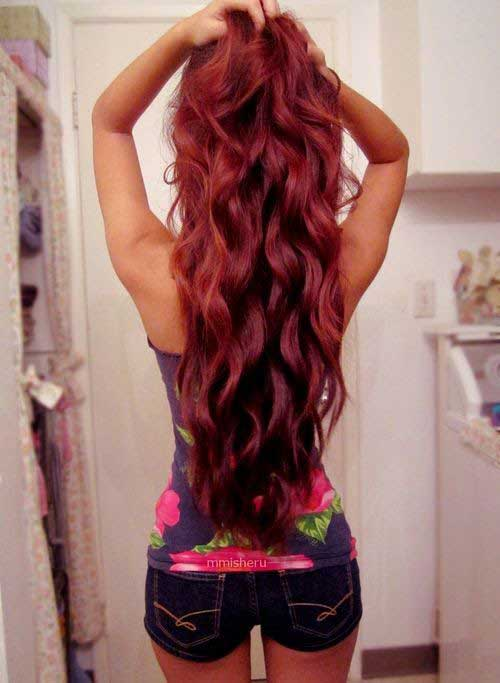 Very long red hair colors
