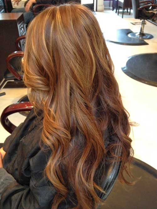 Highlight for warm brown hairstyles