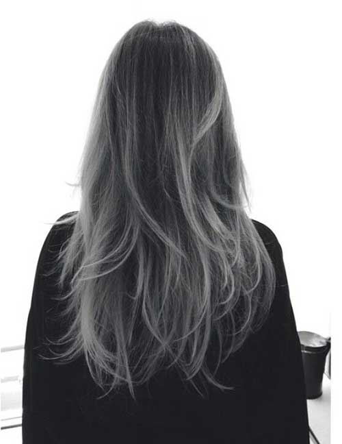 Best gray hairstyles rear view