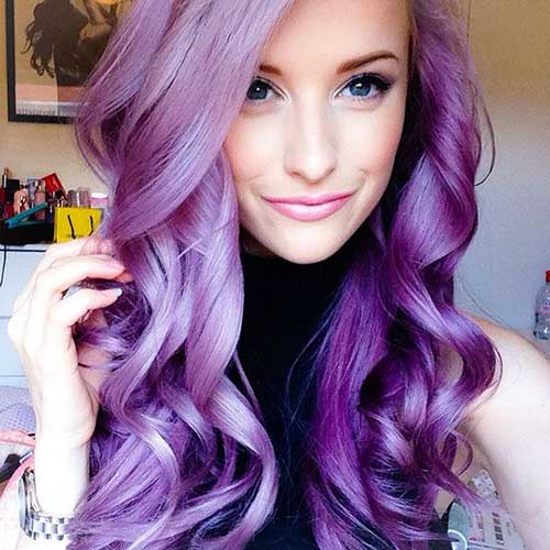 Nice Hairstyles for Purple Hair