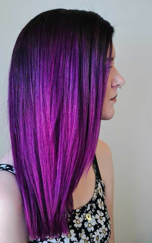 Purple ombre hair color ideas