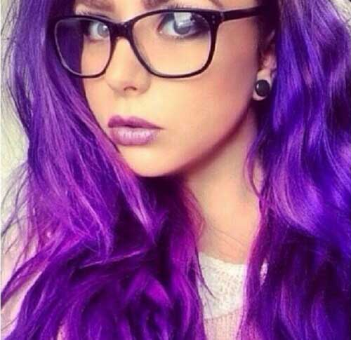 Purple long hair