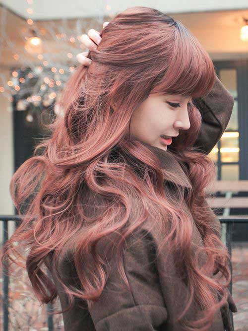 Dark strawberry Blonde long hair color