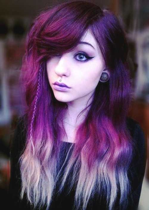 Purple multi hair color