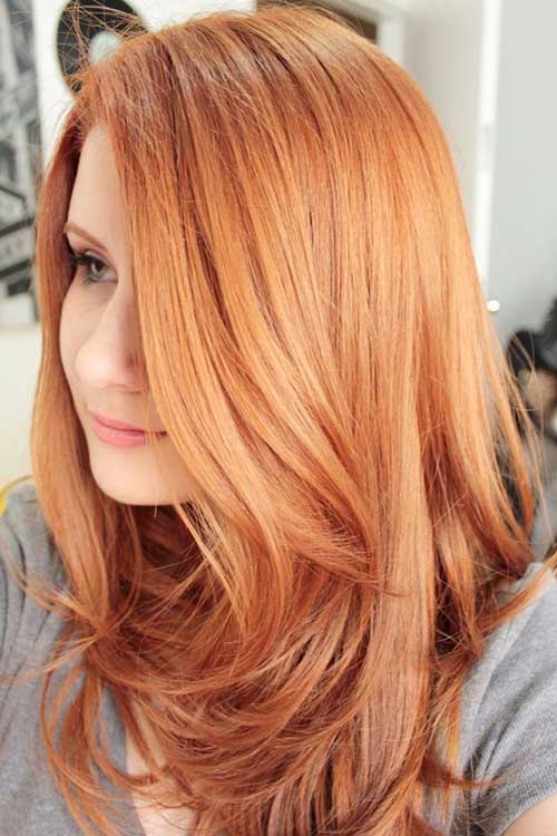 Sweet strawberry blond hair color
