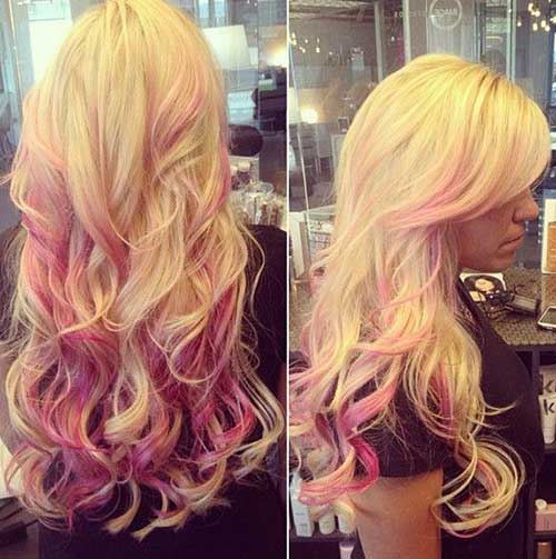 Blonde and pink hair color trend 2016