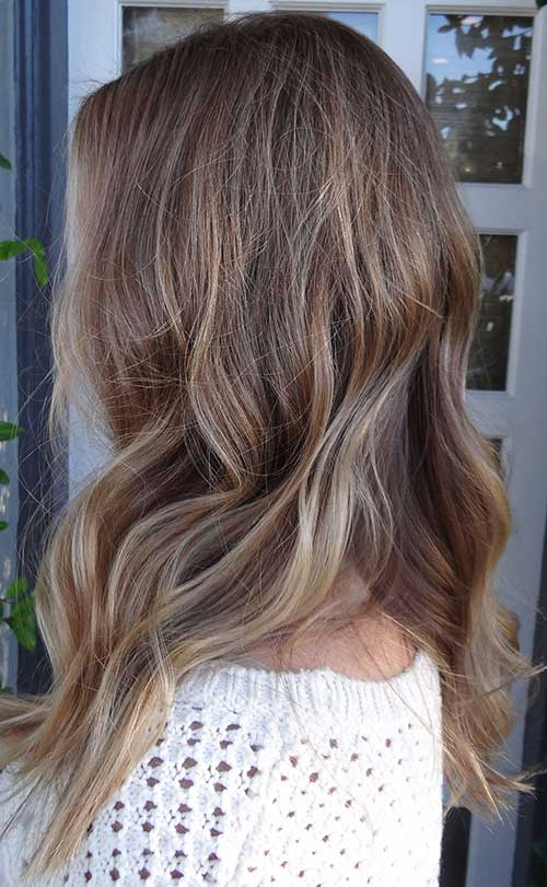 Light brown highlight hairstyles