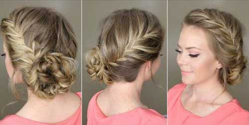 Fishtail Side Braid with bread rolls