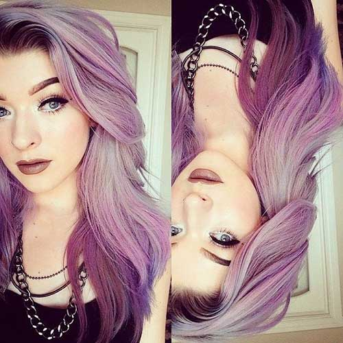 Purple Ombre Hair Colors and Styles 2017