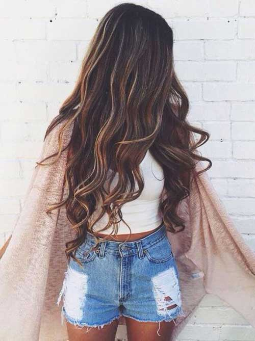 Ombre Brown hairstyles with highlights