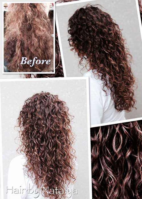 Beautiful curly hair cuts ideas
