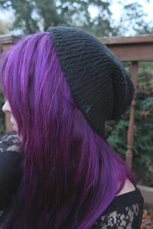 Scene of purple hair colors
