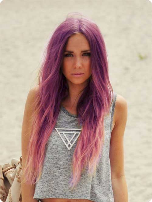Pink purple hair colors