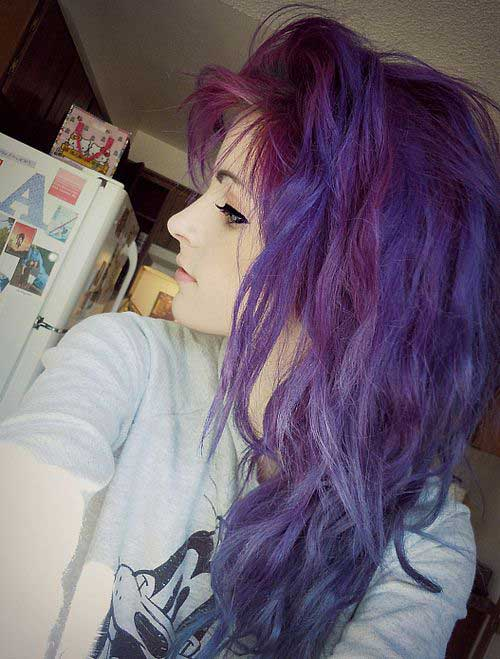 Best purple hair color with shades