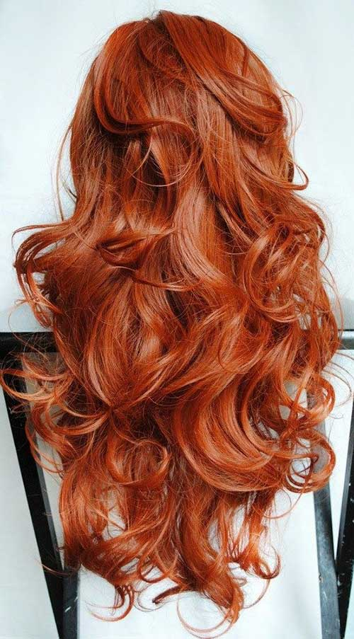 Copper red hair color style pictures