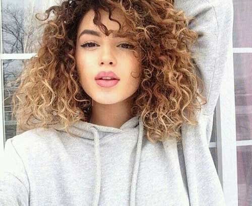 Haircuts for Ombre Curly Hair Ideas
