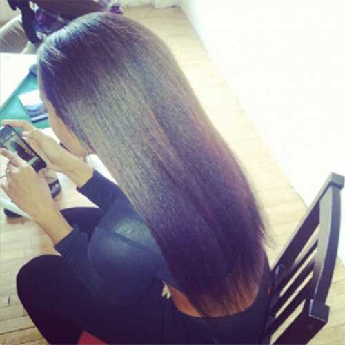 Best black girl with long straight hair