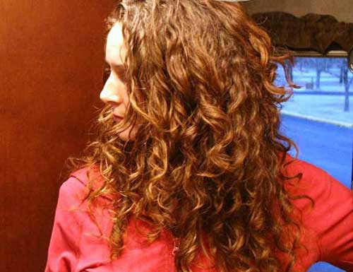 Curly copper hairstyles