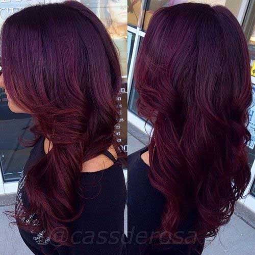 Dark red hair color-12