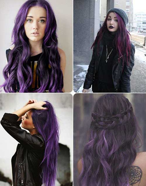 2015 purple hair trends
