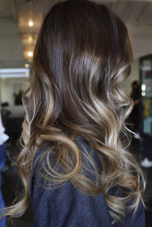 Ash Brown hair with highlight