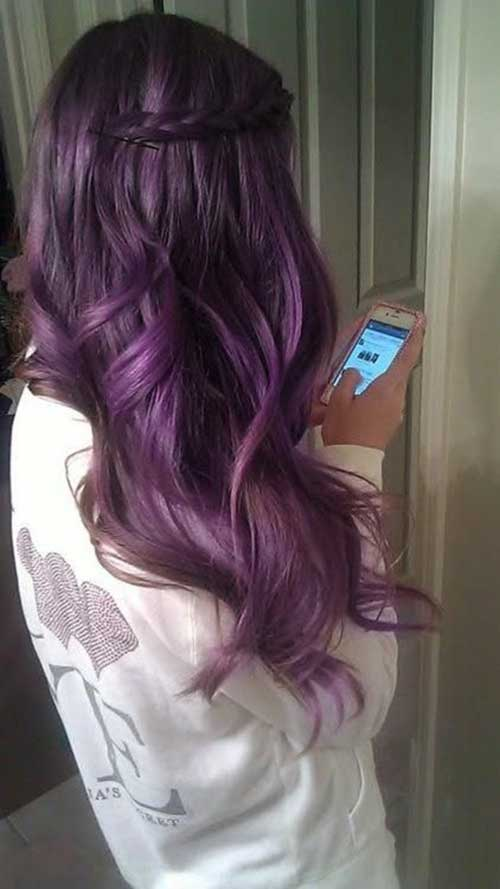 Beautiful hair colors purple
