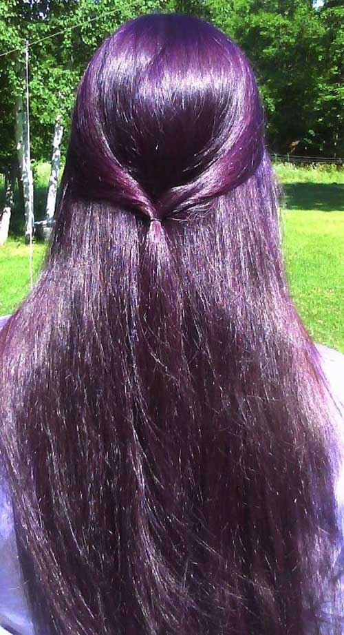 Violet purple hairstyles