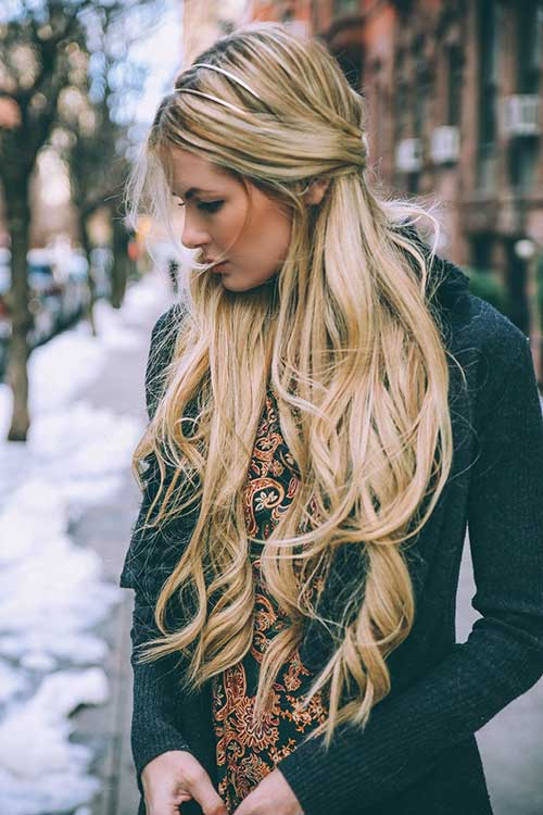 Nice long haircuts for blondes