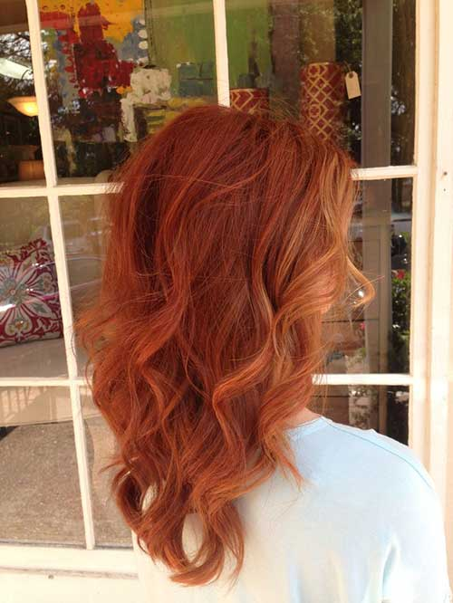Trendy pumpkin spice hair color
