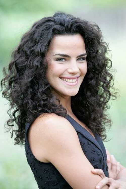 Thick curly dark hairstyles