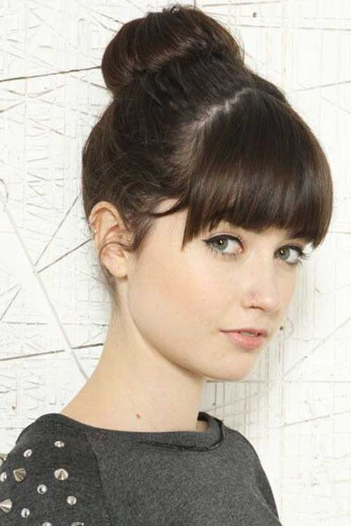 Bun hairstyles with bangs-16