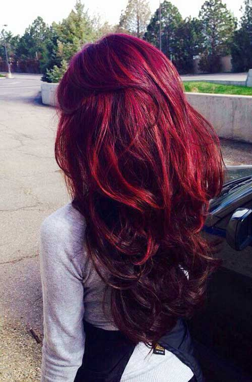 Dark red hair colors