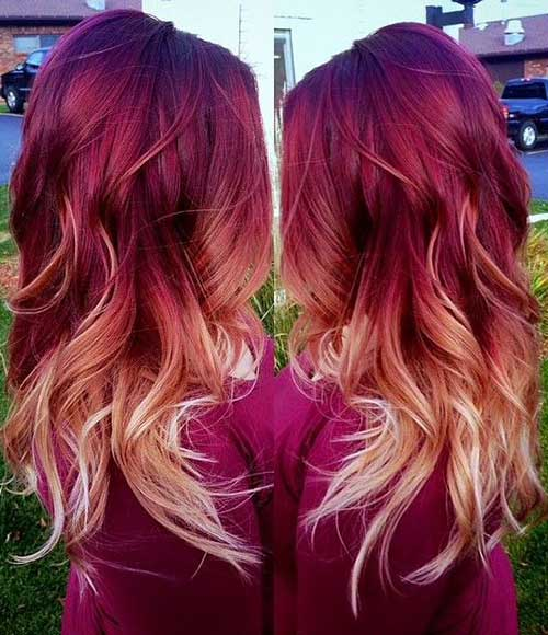 Red Blonde Ombre Hair Colors