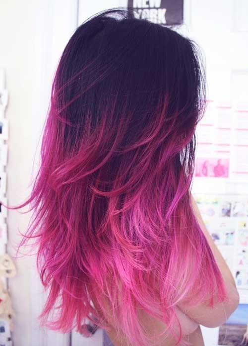 Pink ombre hair color ideas 2016