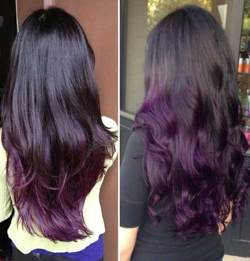 Hair color Dark Purple Styles