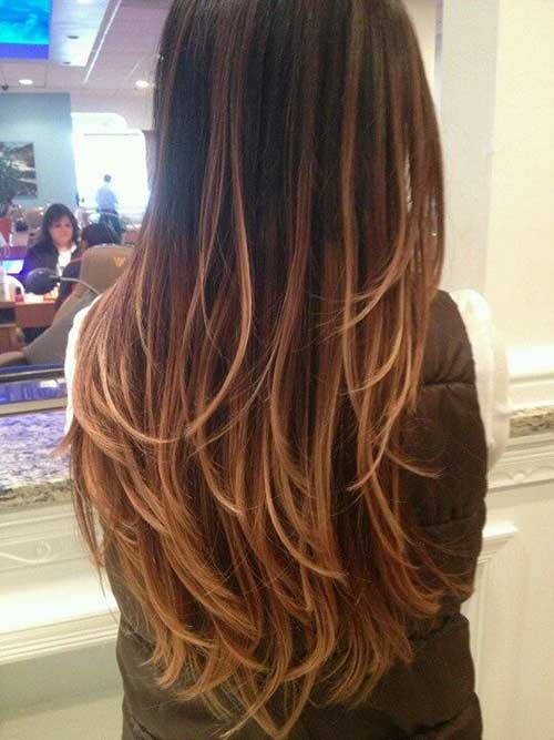 Caramel Brown Ombre hair colors