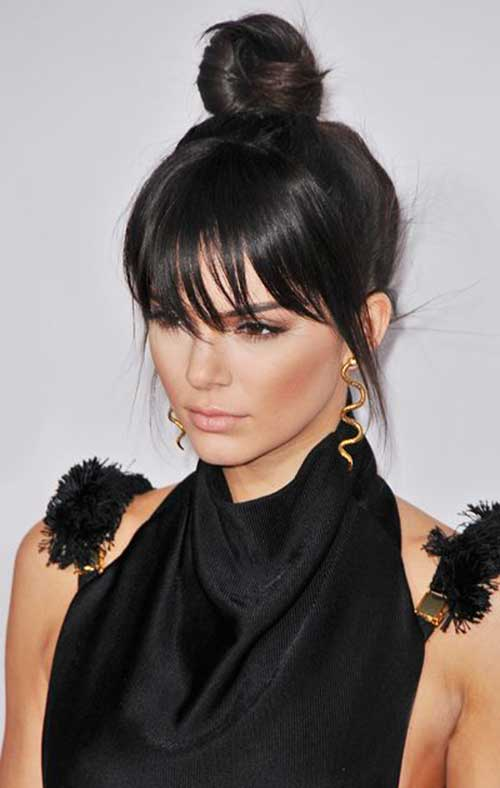 Haircut style with bangs