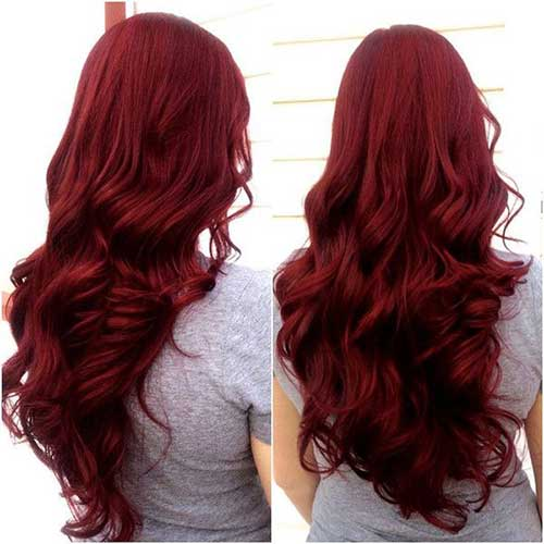 Best dark red hair colors and styles