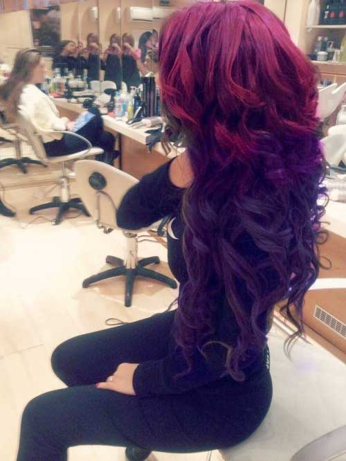 Red and purple hair colors
