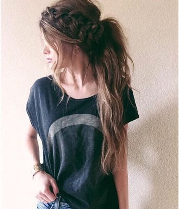 Newest Ponytail Hairstyles for Long Hair (22)