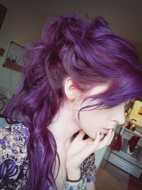 Cool hair color purple