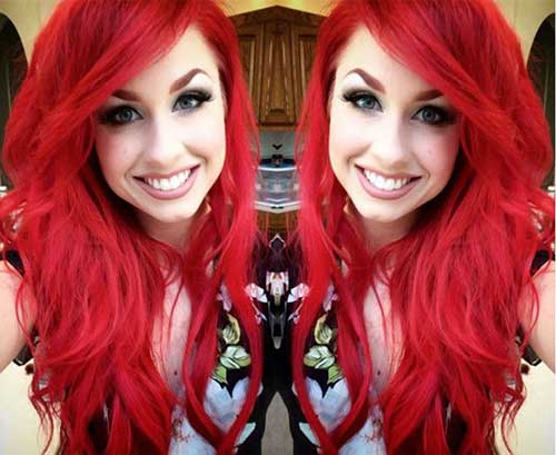 Best hair color bright red