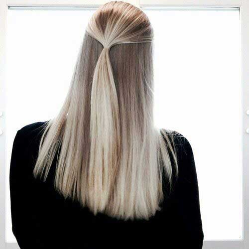 Straight long hairstyles 2018