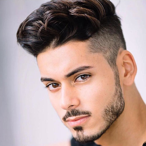 Undercut + Thick textured quiff at the top
