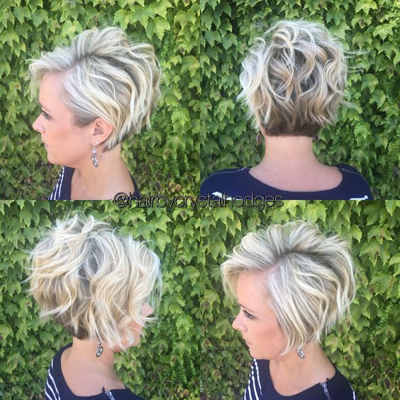 Stylish Messy Hairstyles for Short Hair - Women's Short Haircut Ideas [19659004] Credit </ figcaption> </ figure></p> <p> The latest messy, short hairstyles have many new tricks to give your favorite bob hairstyle a whole new twist!  This version can be fitted with a side behind the ear for an asymmetrical look.  Or with both sides except for the jawbone, as the sides are cut the same length.  This also means that you can wear turns or braids on one side to show the brown and neutral blonde color.  And with longer layers on the back you can add defined, flat surface waves and get much more disheveled texture!  </ P><br />  <! - WP QUADS Content Ad Plug-in v.  1.7.6 /></p><div class='code-block code-block-1' style='margin: 8px auto; text-align: center; display: block; clear: both;'> <!--ads/280.txt--></div>  <div class =