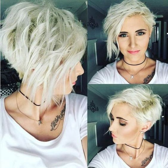 Stylish, messy hairstyles for short hair - women's short haircut ideas