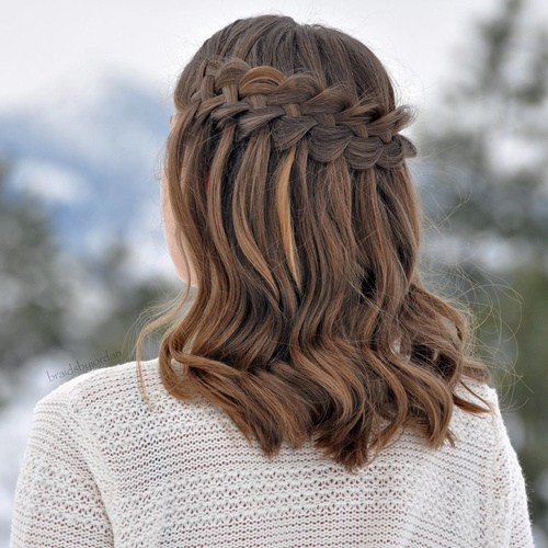 20 Ultra Waterfall Hairstyles 19659004] Credit </ figcaption> </ figure></p> <p> Thick hair can instantly overflow a waterfall braid so your lush, full locks will not hide this beautiful style, make your waterfall braid extra thick.  It looks great on all hair types, but is wonderful for a shorter haircut, as it gives the female body a lot of bounce and flare.  </ P></p> <h3> Braided waterfall braid in miniature optics: Ombre, Balayage Long Hairstyle </ h3></p> <figure id =