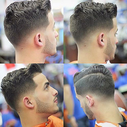 Wavy comb over faded hairstyles