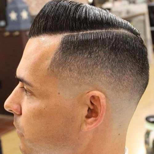 Short Comb-Over-Fade Hairstyle